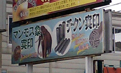 マンモス象の印鑑