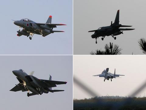 T4練習機とF-15J戦闘機