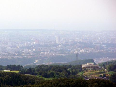 キゴ山より金沢市内を一望