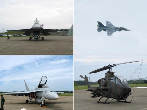F-2、F/A-18、ヒューイコブラ