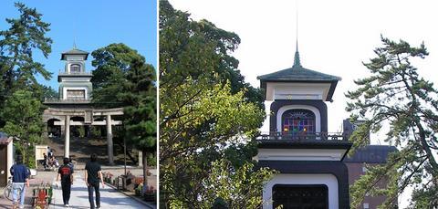 尾山神社のシンボル、神門
