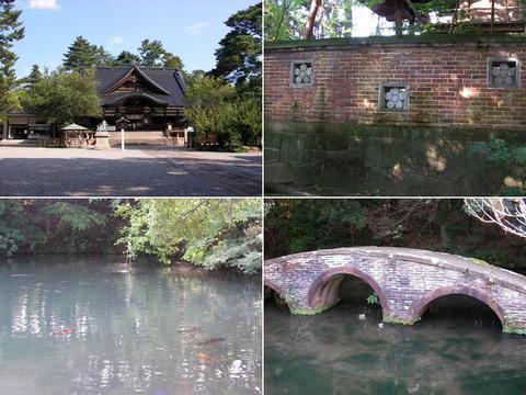 尾山神社境内