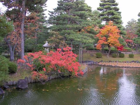 雨の芦城公園