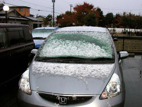 今年2度目の雪