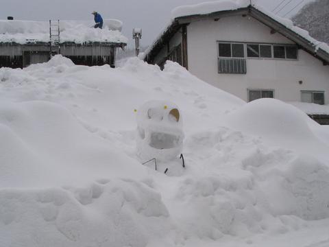 白峰地区の雪だるま