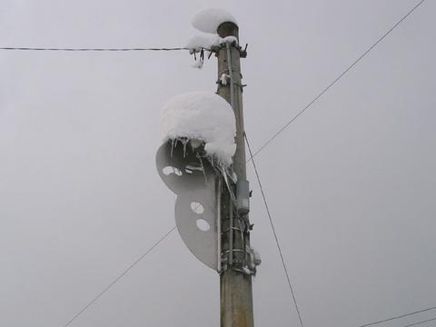 白峰地区の街灯