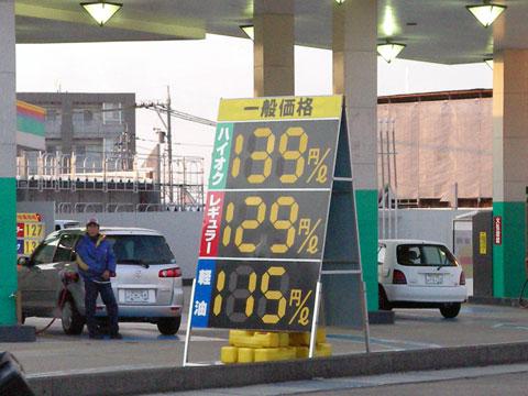 4月1日のガソリンスタンド