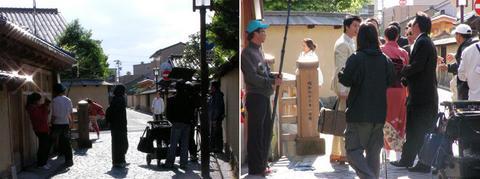 長町で韓国ドラマのロケ