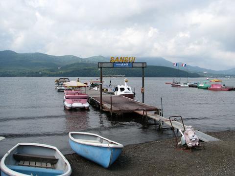 山中湖のスワンボート