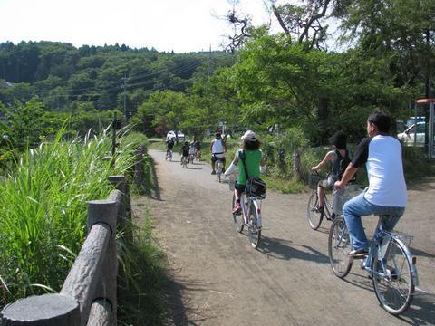 山中湖のサイクリングロード