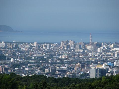 沼津市を一望
