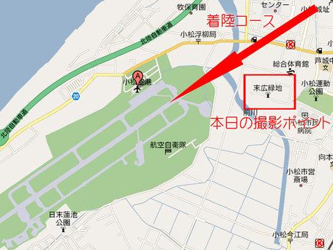 小松基地周辺図