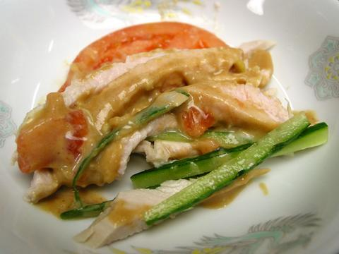 餃子菜館勝ちゃんのバンバンジー