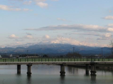 梯川と白山