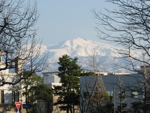 緑地公園から白山を望む